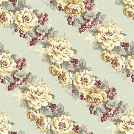 seamless rose green background design pattern - classical style  photo