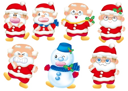 christmas cake: Cute cartoon design elements set - Christmas  Stock Photo