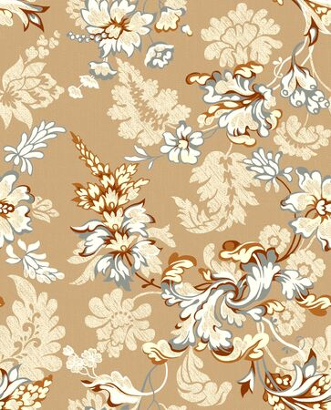 paisley seamless background pattern  Stock Photo