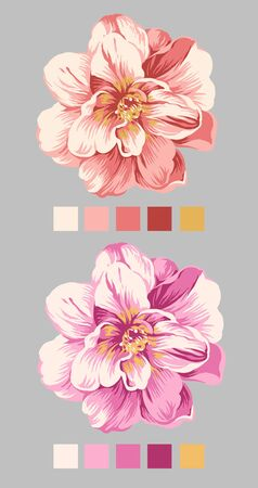 hand drawn - beautiful flower bouquet design with Simple background