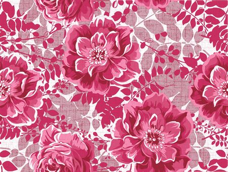 nosegay: Seamless floral background