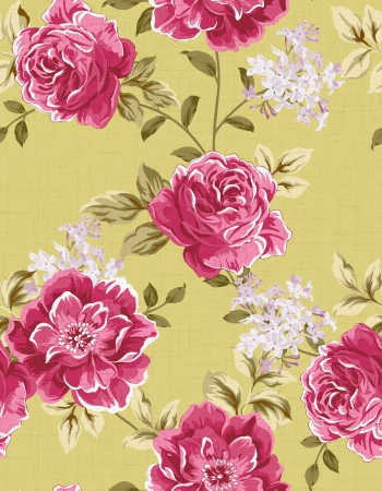 gold floral: Seamless floral background