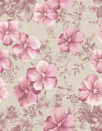 sateen: Seamless floral background