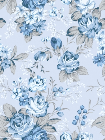 floral background , element for blue design pattern  photo