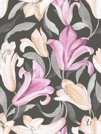 floral paisley: Seamless floral background