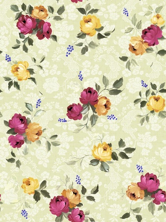 Seamless floral background Stock Photo - 10888830