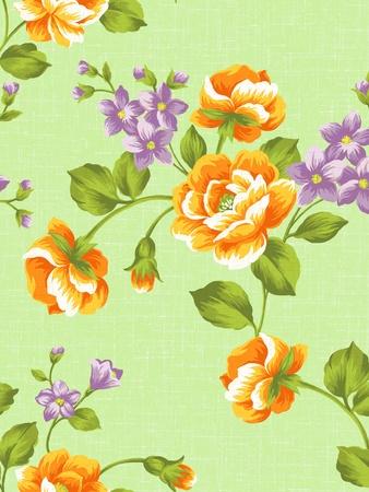 sateen: seamless rose background pattern design