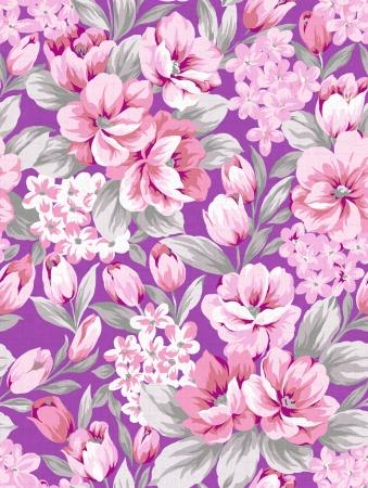 보라색의 꽃 배경, 원활한 핑크 디자인 패턴