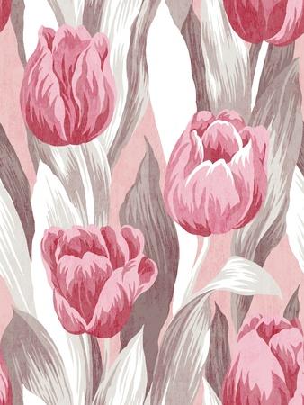 Seamless tulip background pattern