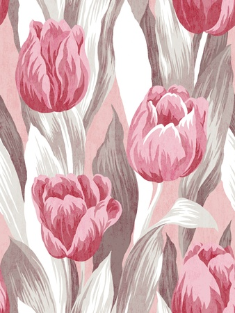 textile image: Seamless tulip background pattern