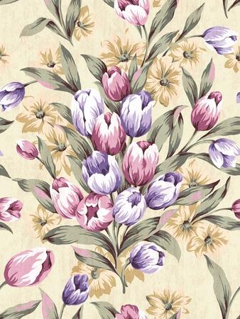 Seamless tulip background pattern   photo
