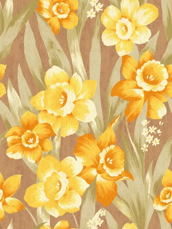 seamless Daffodil background pattern design  photo