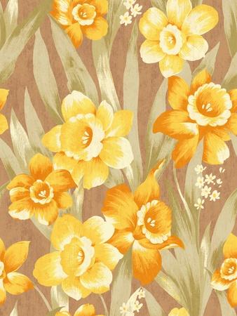 flowery: seamless Daffodil background pattern design
