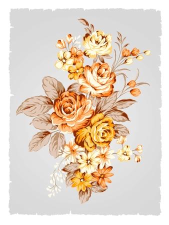 아름다운 장미 꽃다발 디자인 - 간단한 배경 스톡 콘텐츠