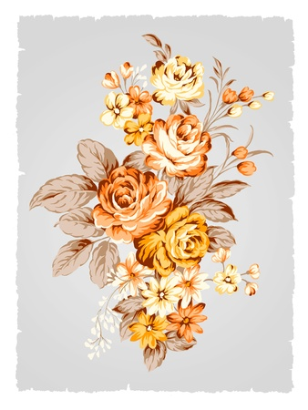 beautiful Rose bouquet design-Simple background  photo