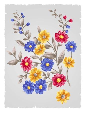 artificial flower: beautiful flower bouquet design-Simple background  Stock Photo