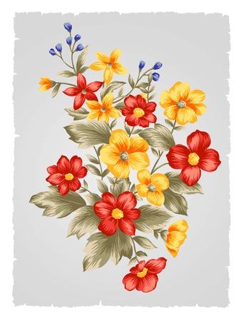 아름다운 꽃 꽃다발 디자인 - 간단한 배경 스톡 콘텐츠
