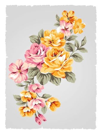 bunch of flowers: beautiful Rose bouquet design-Simple background  Stock Photo