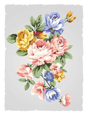 Schöne Rose Bouquet-Design einfachen Hintergrund