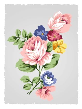 beautiful Rose bouquet design-Simple background  photo