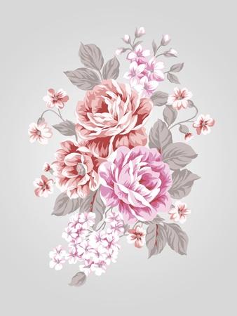 artificial flower: beautiful Rose bouquet design-Simple background  Stock Photo