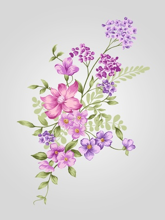 beautiful flower bouquet design-Simple background  Stock Photo