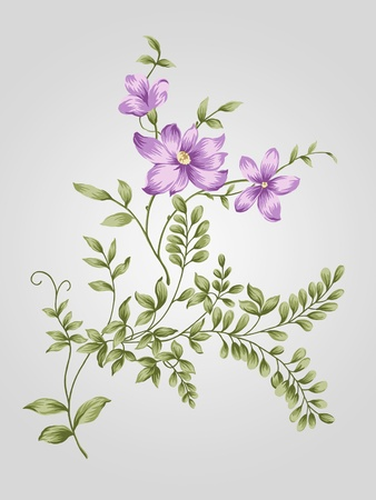 nature flower bouquet design-Simple background