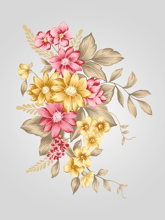bunch flower: beautiful flower bouquet design-Simple background  Stock Photo