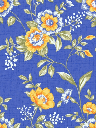 Seamless floral background  For easy making seamless pattern use it for filling any contours   Stock Photo