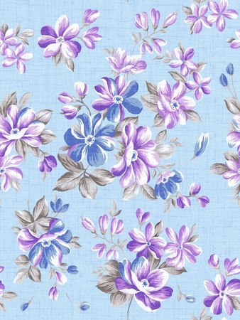 Retro floral seamless background  photo
