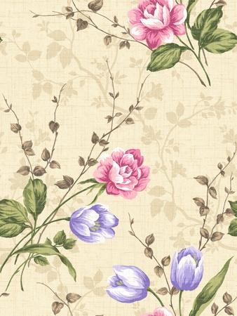 쉽게 만드는 완벽 한 패턴에 대 한 모든 컨투어를 채우기 사용 - 원활한 패턴 장미
