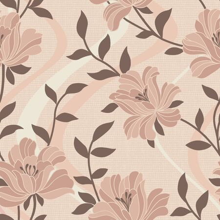 Warm tones seamless pattern background - For easy making seamless pattern use it for filling any contours  photo