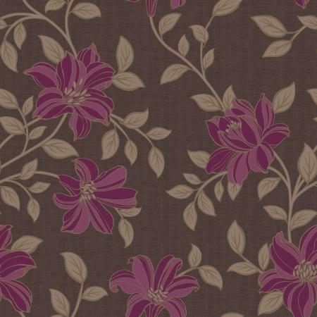 가을 겨울 스타일 꽃 원활한 패턴 배경 - 쉽게 만드는 원활한 패턴에 대 한 모든 컨투어를 채우기 사용