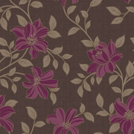 Autumn winter styles flowers seamless pattern background - For easy making seamless pattern use it for filling any contours