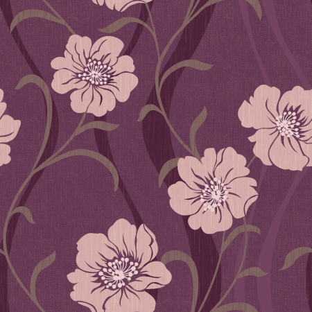 textile image: Elegant flowers seamless pattern background - For easy making seamless pattern use it for filling any contours