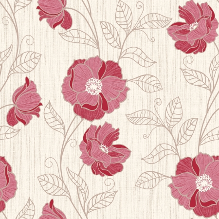 poppy pattern: Red Poppy seamless pattern background - For easy making seamless pattern use it for filling any contours  Stock Photo