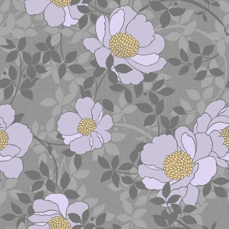 For easy making seamless pattern use it for filling any contours - Modern style rose seamless pattern photo