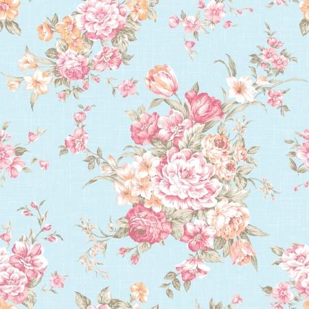 Traditionele klassieke roos naadloze patroon - Voor gemakkelijk maken naadloze patroon gebruiken voor het invullen van alle contouren Stockfoto