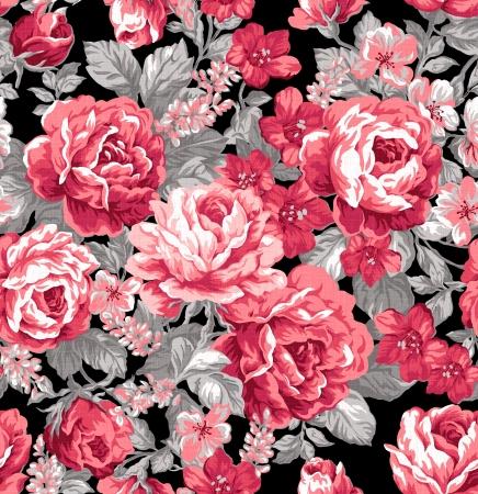 Voor gemakkelijk maken naadloze patroon gebruiken voor het invullen van alle contouren - Intens rode kleur roos naadloze patroon