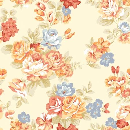쉽게 만드는 완벽 한 패턴에 대 한 모든 컨투어를 채우기 사용 - 강렬한 붉은 색 원활한 패턴 장미 스톡 콘텐츠