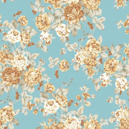 흰색 배경에 꽃다발 디자인 원활한 패턴 로즈