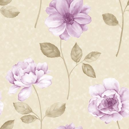 Gebruik papaver bloem naadloze patroon gebruiken voor het invullen van alle contouren