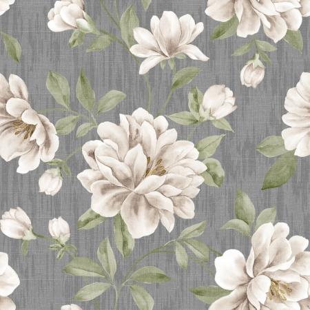 papel tapiz: Estilo del resorte de flores seamless - Para facilitar la toma de patrón sin usarla para rellenar los contornos