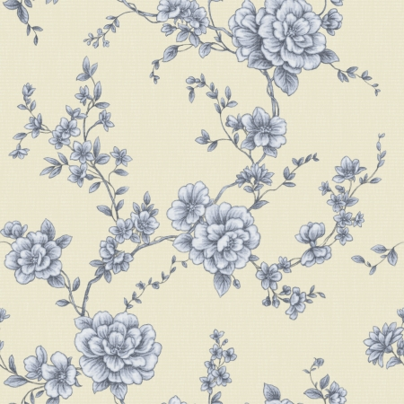 gray flower: Classical style pattern seamless background - For easy making seamless pattern use it for filling any contours
