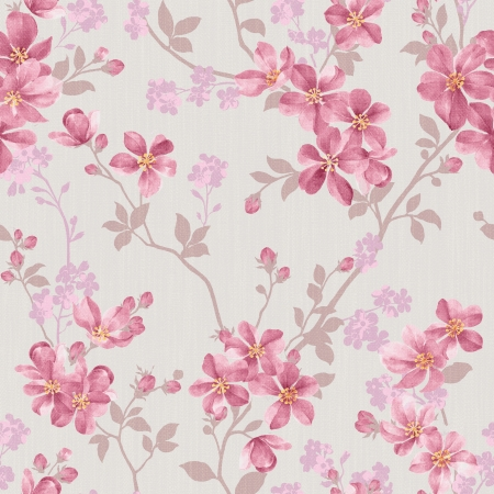 gray flower: Classical style pattern seamless