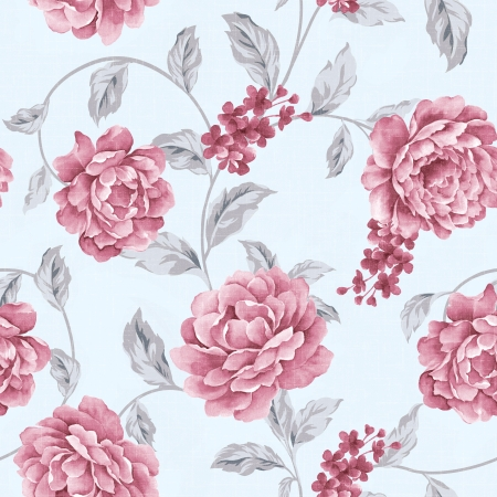 magnificence: Fresh spring flowers seamless pattern Stock Photo