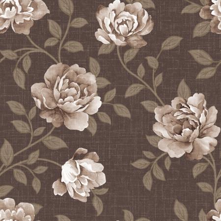 Featured flowers seamless pattern  版權商用圖片