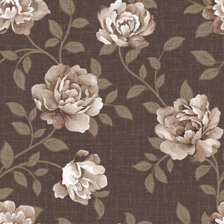 featured: Featured flowers seamless pattern  Stock Photo