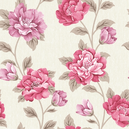 the magnificence: Fresh spring flowers seamless pattern Stock Photo