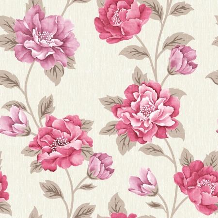 Fresh spring flowers seamless pattern Stock Photo